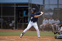 AZL Padres 2 left fielder Mason House (33) at bat during an Arizona League game against the AZL Padres 1 at Peoria Sports Complex on July 14, 2018 in Peoria, Arizona. The AZL Padres 1 defeated the AZL Padres 2 4-0. (Zachary Lucy/Four Seam Images)