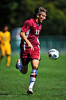 18 September 2011: Harvard University Crimson Forward Brian Rogers, a Junior from Bronxville, NY, in action against the University of Vermont Catamounts at Centennial Field in Burlington, Vermont. The Catamounts shut out the visiting Crimson 1-0, earning their 3rd straight victory of the 2011 season. Mandatory Credit: Ed Wolfstein Photo