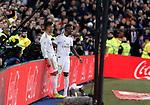 Real Madrid CF's Carlos H. Casemiro and Real Madrid CF's Vinicius Jr during La Liga match. Jan 18, 2020. (ALTERPHOTOS/Manu R.B.)