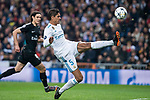 Real Madrid Raphael Varane and PSG Adrien Rabiot during Eight Finals Champions League match between Real Madrid and PSG at Santiago Bernabeu Stadium in Madrid , Spain. February 14, 2018. (ALTERPHOTOS/Borja B.Hojas)