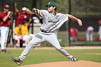 Slippery Rock Brennan Wojdyla #35 during a game vs. the Seton Hill Griffins at Lake Myrtle Field in Auburndale, Florida;  March 5, 2011.  Seton Hill defeated Slippery Rock 14-1.  Photo By Mike Janes/Four Seam Images