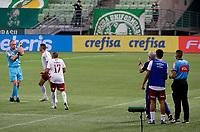 São Paulo (SP), 14/11/2020 - Palmeiras-Fluminense - Árbitro, Leandro Pedro Vuaden marca penati para o Palmeiras. Partida entre Palmeiras e Fluminense jogo válido pela 21ª rodada do Campeonato Brasileiro neste sábado (14), no Allianz Parque em São Paulo (SP).