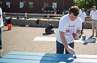 Aramark employees helped people in the Minneapolis Camden Community by improving the indoor and outdoor facility grounds. Photos by Minneapolis Commercial and Corporate Event Photographer Justin Cox