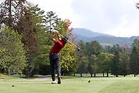 SAPPHIRE, NC - OCTOBER 01: Jack Parrott of the University of South Carolina tees off at The Country Club of Sapphire Valley on October 01, 2019 in Sapphire, North Carolina.
