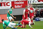 17.10.2020, Schwarzwald Stadion, Freiburg, GER, 1.FBL, SC Freiburg vs SV Werder Bremen<br /> <br /> im Bild / picture shows<br /> Maximilian Eggestein (Bremen), Nils Petersen (Freiburg)<br /> <br /> Foto © nordphoto / Bratic<br /> <br /> DFL REGULATIONS PROHIBIT ANY USE OF PHOTOGRAPHS AS IMAGE SEQUENCES AND/OR QUASI-VIDEO.