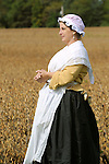 Heritage Days Festival. Union County. Wash lady with colonial outfit.