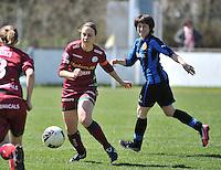 Dames Club Brugge - SV Zulte Waregem : Eva Van Daele voor Ingrid De Rycke .foto DAVID CATRY / Nikonpro.be