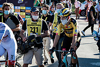Wout Van Aert (BEL/Jumbo-Visma) coming back for the podium ceremony after winning the stage<br /> <br /> Stage 5 from Gap to Privas (183km)<br /> <br /> 107th Tour de France 2020 (2.UWT)<br /> (the 'postponed edition' held in september)<br /> <br /> ©kramon
