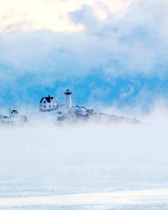 Sea Smoke at Nubble Light