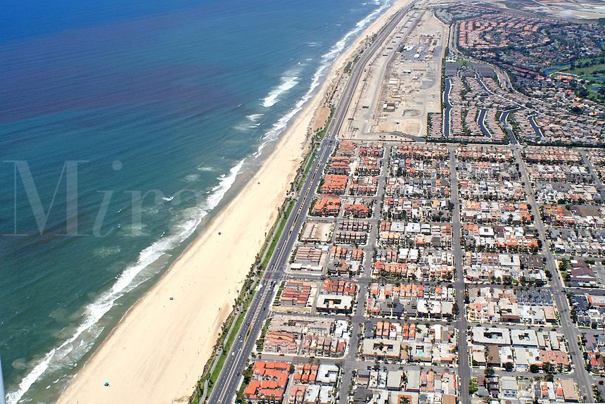 Aerial view Long Beach California
