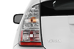 Tail light close up detail view of a 2008 toyota prius touring