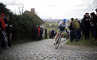 Luke Durbridge (AUS/Orica-GreenEDGE) topping the Paterberg<br /> <br /> 71st Dwars door Vlaanderen (1.HC)