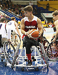 Toronto, Ontario, August 15, 2015. Canada vs USA mens wheelchair basketball gold medal game at the  2015 Parapan Am Games . Photo Scott Grant/Canadian Paralympic Committee