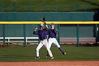 Jonathan Lucio (1) of John F. Kennedy High School in Granada Hills, California during the Baseball Factory All-America Pre-Season Tournament, powered by Under Armour, on January 13, 2018 at Sloan Park Complex in Mesa, Arizona.  (Freek Bouw/Four Seam Images)