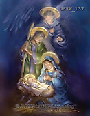Randy, HOLY FAMILIES, HEILIGE FAMILIE, SAGRADA FAMÍLIA, paintings+++++Painterly-Holy-Family-Angel,USRW137,#xr#
