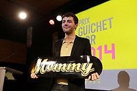 Montreal, CANADA, March 4, 2015. <br /> <br /> the presentation of the 2014 Guichet d'Or Award to Xavier Dolan for his succes of MOMMY ; t he Canadian French-language feature film with the highest-grossing domestic box-office sales in 2014.<br /> <br /> The Guichet d'Or comes with a total $40,000 cash prize to the writer ($20,000) and the director ($20,000) of the film.