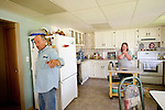 Doug Dallyn, 55, and wife Merna Dallyn, 52, in their home near Peace River, Alberta on July 15, 2010. Residents in the area have been complaining of strong odours in the air which they say are affecting the health of their animals and family members..Jimmy Jeong / www.jimmyshoots.com