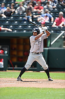 ***Temporary Unedited Reference File***Northwest Arkansas Naturals left fielder Carlos Garcia (16) during a game against the Springfield Cardinals on April 27, 2016 at Hammons Field in Springfield, Missouri.  Springfield defeated Northwest Arkansas 8-1.  (Mike Janes/Four Seam Images)