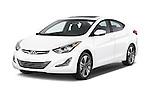 2015 Hyundai Elantra Sport 4 Door Sedan Angular Front stock photos of front three quarter view