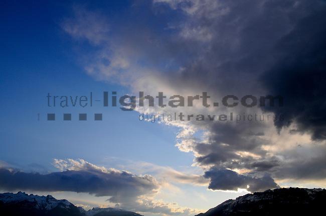 Swiss Mountains seen from Mauren, Liechtenstein