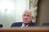 United States Senator Roger Wicker (Republican of Mississippi), Chairman, US Senate Committee on Commerce, Science, & Transportation, asks a question during an oversight hearing to examine the Federal Communications Commission in Washington, DC on June 24, 2020. The hearing was held by the Senate Committee for Commerce, Science, and Transportation.<br /> Credit: Jonathan Newton / Pool via CNP/AdMedia