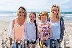 Jack Powell, Shirley Leen, Megan McCarthy and Amanda Hodges from Ballymac enjoying the sun in   <br /> Banna beach on Tuesday.