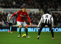 Saturday 17 November 2012<br /> Pictured L-R: Danny Graham of Swansea against Vurnon Anita of Newcastle <br /> Re: Barclay's Premier League, Newcastle United v Swansea City FC at St James' Park, Newcastle Upon Tyne, UK.