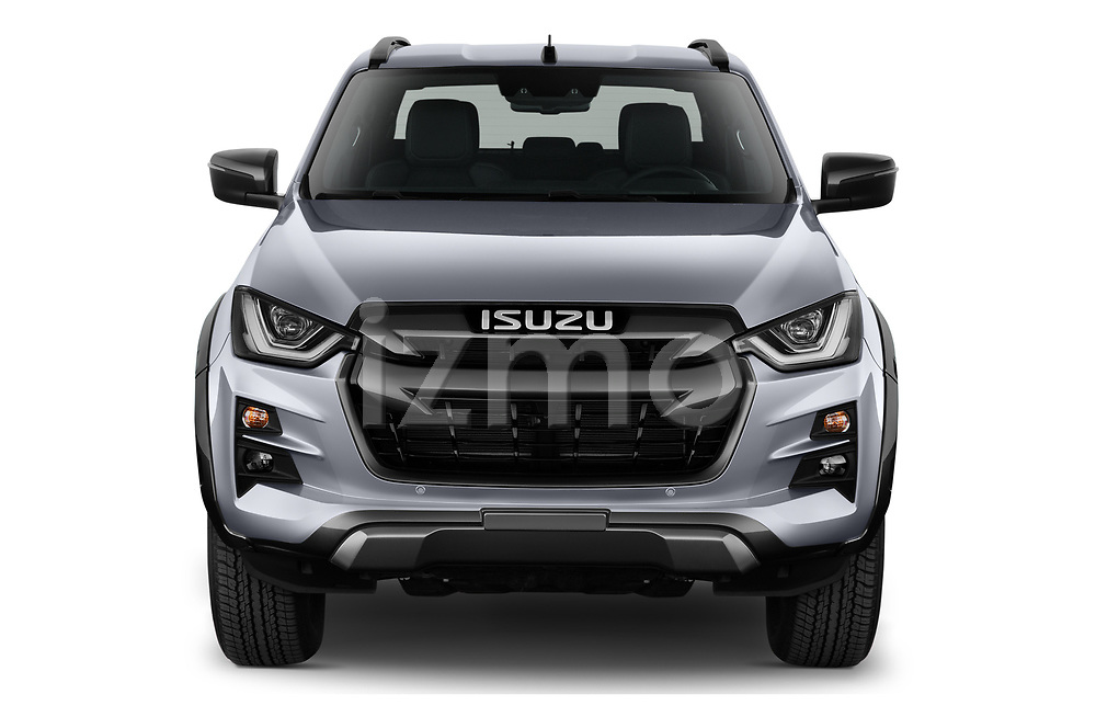 Car photography straight front view of a 2021 Isuzu D-Max V-Cross 4 Door Pick-up Front View