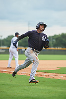 GCL Yankees West Oswald Peraza (24) scores a run during the first game of a doubleheader against the GCL Yankees East on July 19, 2017 at the Yankees Minor League Complex in Tampa, Florida.  GCL Yankees West defeated the GCL Yankees East 11-2.  (Mike Janes/Four Seam Images)