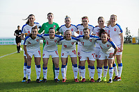 20190227 - LARNACA , CYPRUS : Czech Republic team pictured during a women's soccer game between Korea DPR and Czech Republic , on Wednesday 27 February 2019 at the GSZ Stadium in Larnaca , Cyprus . This is the first game in group A for both teams during the Cyprus Womens Cup 2019 , a prestigious women soccer tournament as a preparation on the Uefa Women's Euro 2021 qualification duels and the Fifa World Cup France 2019. PHOTO SPORTPIX.BE | STIJN AUDOOREN