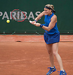 May 27,2016:   Petra Kvitova (CZE) loses to Shelby Rogers (USA) 6-0, 6-7, 6-0 at Roland Garros being played at Stade Roland Garros in Paris, France.  ©Leslie Billman/Tennisclix/CSM