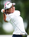 CHON BURI, THAILAND - FEBRUARY 17:  Ai Miyazato of Japan tees off on the 11th hole during day two of the LPGA Thailand at Siam Country Club on February 17, 2012 in Chon Buri, Thailand.  Photo by Victor Fraile / The Power of Sport Images