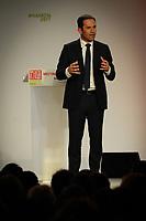 Meeting de Benoit Hamon ‡ l'Astroballe ‡ Villeurbanne, le 11/04/2017, en prÈsence du Maire de Villeurbanne, du trÈsorier du Parti Socialiste et de la Ministre de l'Education Nationale. 4500 personnes prÈsentent selon les organisateurs.