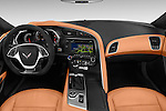 Stock photo of straight dashboard view of 2018 Chevrolet Corvette Grand-Sport-2LT 3 Door Coupe Dashboard