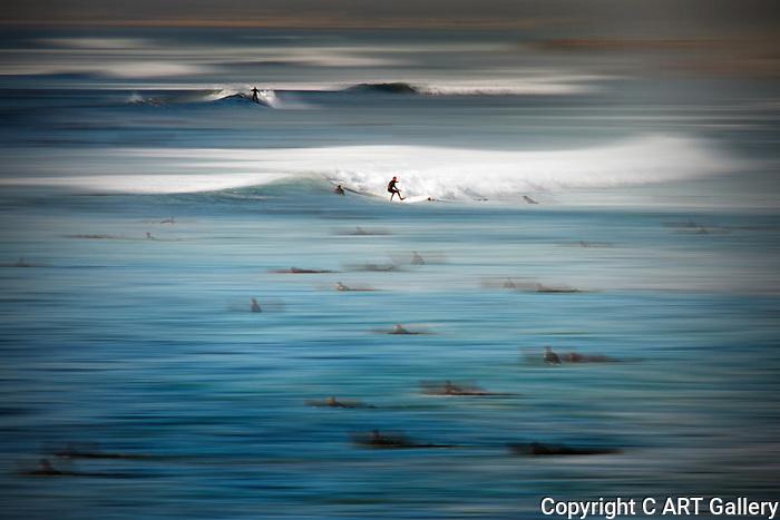 Ghost Riders of the Newport Surf, Newport Beach, CA.