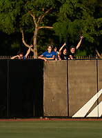 IMG Academy Ascenders fans cheering during a game against the Jesuit Tigers on April 21, 2021 at IMG Academy in Bradenton, Florida.  (Mike Janes/Four Seam Images)