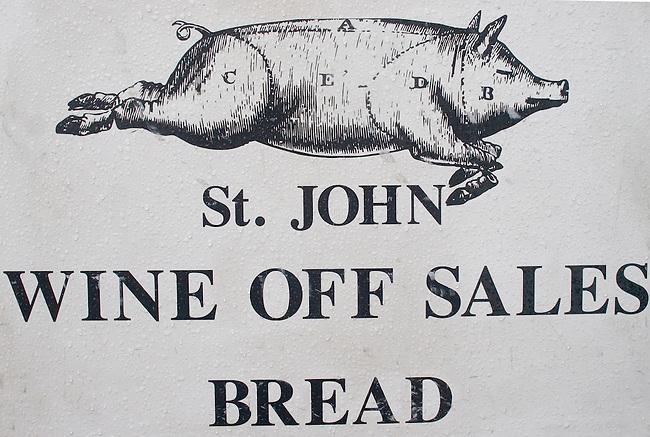 Sign St. John Restaurant, Hoxton, London, Great Britain, Europe