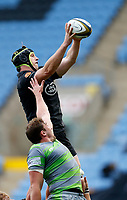 Photo: Richard Lane/Richard Lane Photography. Wasps v Newcastle Falcons.  Anglo-Welsh Cup. 04/11/2017. Wasps' James Gaskell wins a lineout.
