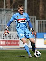 goalkeeper Koen Van Langendonck (30) of Westerlo  with the ball during a friendly soccer game between KVC Westerlo and Belgium U21 on Tuesday 30 th of March 2021  in Het Kuipje , Westerlo Belgium . PHOTO SPORTPIX.BE | SPP | SEVIL OKTEM