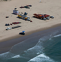 aerial photograph of ATV rentals at Oceano dunes, Pismo Beach, San Luis Obispo County, California