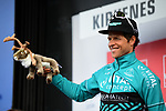 Bert De Backer Vital Concept Cycling Club wins the days combativity award at the end of Stage 1 of the 2018 Artic Race of Norway, running 184km from Vadso to Kirkenes, Norway. 16th August 2018. <br /> <br /> Picture: ASO/Pauline Ballet | Cyclefile<br /> All photos usage must carry mandatory copyright credit (© Cyclefile | ASO/Pauline Ballet)