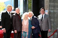 LOS ANGELES - FEB 24:  Donovan Tea, Rob Gulack,  Connie Stevens, Tony Butala, Bobby Poynton at the The Lettermen Star Ceremony on the Hollywood Walk of Fame on February 24, 2019 in Los Angeles, CA