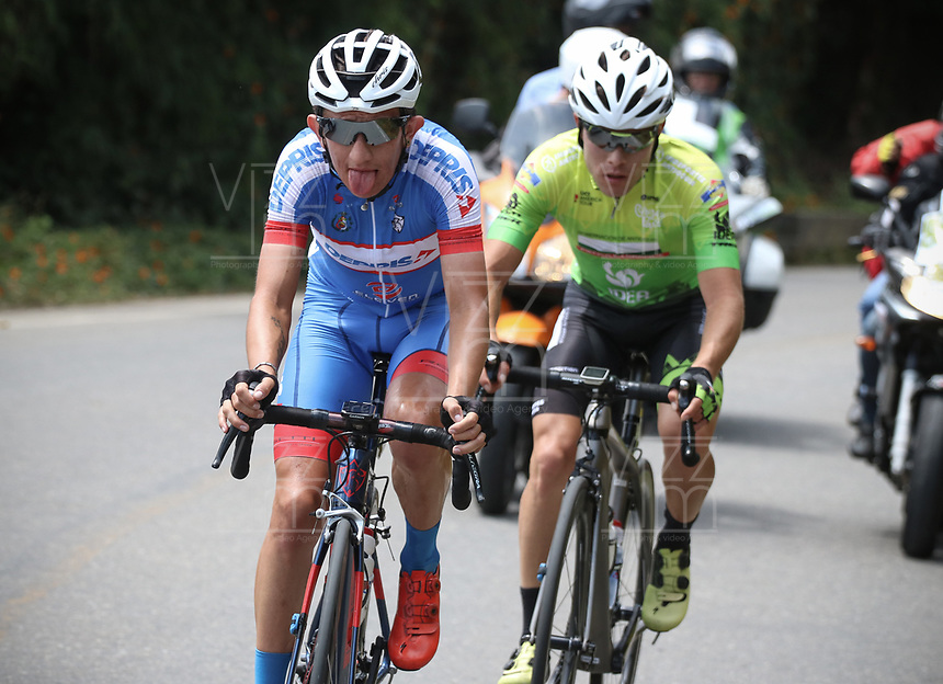 LA CEJA - COLOMBIA, 13-02-2019: Stiven Cuesta (COL), Deprisa, durante la segunda etapa del Tour Colombia 2.1 2019 con un recorrido de 150.5 Km, que se corrió entre La Ceja Canadá - Carmen de Viboral - Rionegro - Canadá - La Ceja. / Stiven Cuesta (COL), Deprisa, during the second stage of 150.5 km of Tour Colombia 2.1 2019 that ran through La Ceja Canada - Carmen de Viboral - Rionegro - Canada - La Ceja.  Photo: VizzorImage / Fedeciclismo Prensa