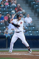Mac Williamson (7) of the Richmond Flying Squirrels at bat against the Bowie Baysox at The Diamond on May 23, 2015 in Richmond, Virginia.  The Baysox defeated the Flying Squirrels 3-2.  (Brian Westerholt/Four Seam Images)