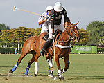WELLINGTON, FL - APRIL 15:  Palm Beach Illustrated's Tommy Collingwood controls the ball as he takes the ball down the sideline in the $100,000 World Cup Final, at the Grand Champions Polo Club, on April 15, 2017 in Wellington, Florida. (Photo by Liz Lamont/Eclipse Sportswire/Getty Images)
