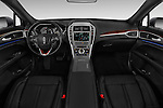 Stock photo of straight dashboard view of 2018 Lincoln MKZ Reserve 4 Door Sedan Dashboard