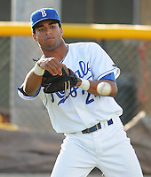 July 22, 2009: Infielder Malcom Culver (24) of the Burlington Royals, rookie Appalachian League affiliate of the Kansas City Royals, prior to a game at Burlington Athletic Stadium in Burlington, N.C. Photo by: Tom Priddy/Four Seam Images