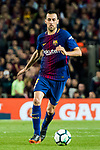 Sergio Busquets Burgos of FC Barcelona in action during the La Liga 2017-18 match between FC Barcelona and Real Madrid at Camp Nou on May 06 2018 in Barcelona, Spain. Photo by Vicens Gimenez / Power Sport Images