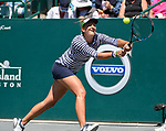 April  6, 2017:  Irina-Camelia Begu (ROU) defeated Samantha Stosur (UAS) 7-5, 6-3,  at the Volvo Car Open being played at Family Circle Tennis Center in Charleston, South Carolina.  ©Leslie Billman/Tennisclix/Cal Sport Media