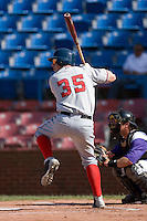 Chris Marrero #35 of the Potomac Nationals at bat versus the Winston-Salem Dash at Wake Forest Baseball Park May 10, 2009 in Winston-Salem, North Carolina. (Photo by Brian Westerholt / Four Seam Images)